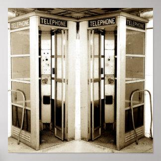 Alte Telefonzelle-Fotografie Poster