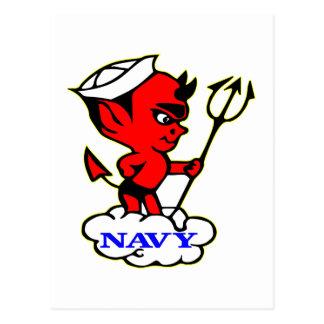 Alte Timer-Marine-roter Teufel Postkarte