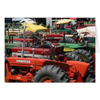 Alte Traktor-Anmerkungs-Karte: Lose bunte Karte