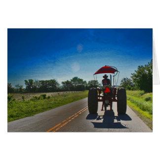 Alte Traktor-Anmerkungs-Karte: Shilouette auf Karte