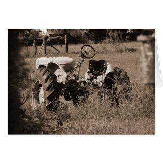 Alte Traktor-Karte Karte