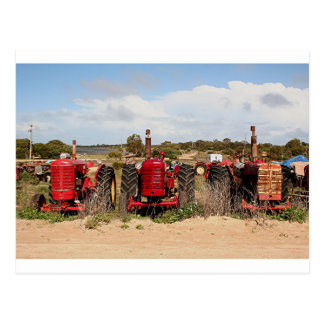 Alte Traktor-landwirtschaftliche Maschinen Postkarte
