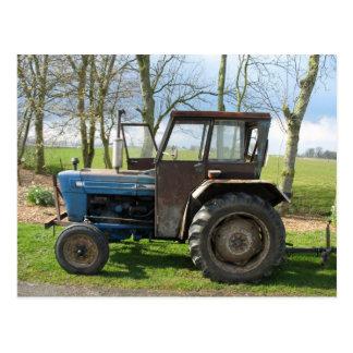 Alte Traktor-Postkarte Postkarten
