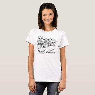 Alte Viertelvietnam Straße Hanois T-Shirt