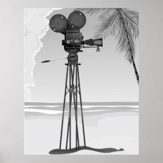 Alte Vintage Filmkamera der Filmzeit Poster