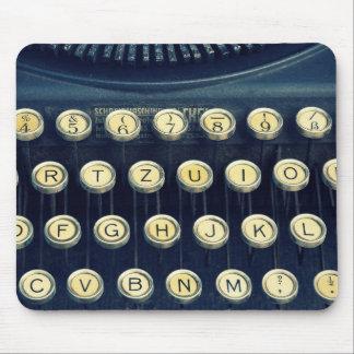 Alte Vintage Schreibmaschinen-Tasten Mousepad