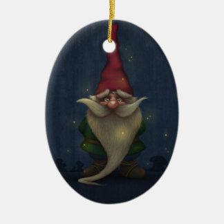 Alte Weihnachtsgnome-Keramik-Oval-Verzierung Keramik Ornament