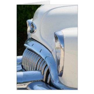 Alte weiße Buick-Karte Karte