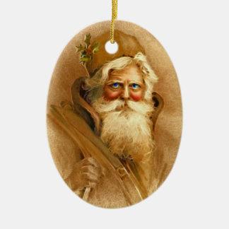 Alte Welt viktorianischer Weihnachtsmann Weinachtsornamente