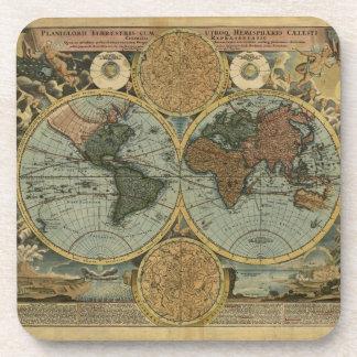 Alte Weltkarten-Vintage Korken-Untersetzer Getränkeuntersetzer