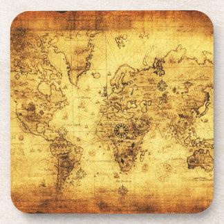 Alte Weltkarten-Vintage Korken-Untersetzer Untersetzer