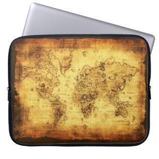 Alte Weltkarten-Vintage Laptop-Hülse Laptop Schutzhüllen