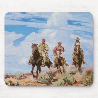 Alte Westcowboy-Pferde Vintages Mousepad 1922