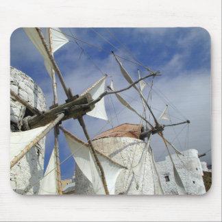 Alte Windmühlen Olympos Karpathos, Griechenland Mousepads