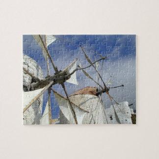 Alte Windmühlen Olympos Karpathos, Griechenland Puzzle