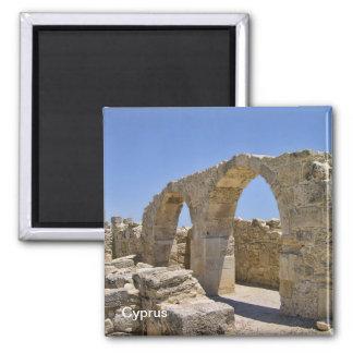Alte Zypern-Ruinen Quadratischer Magnet