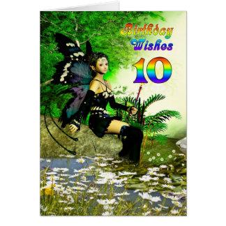 Alter 10 Geburtstagswünsche von einer Fee Karte