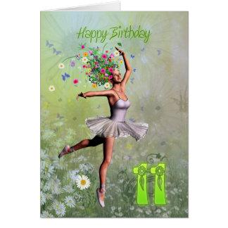 Alter 11, feenhafte Geburtstagskarte der Blume Karte