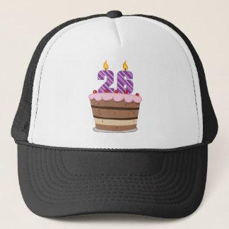 Alter 26 auf Geburtstags-Kuchen Truckerkappe