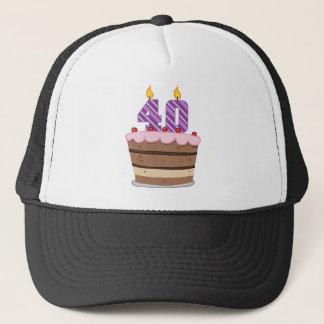 Alter 40 auf Geburtstags-Kuchen Truckerkappe
