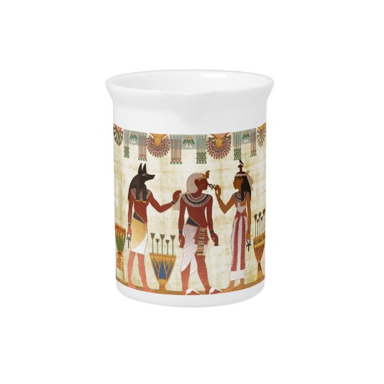 Alter ägyptischer Entwurfskrug Getränke Krug