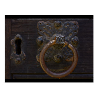Alter antiker Türklopfer - Postkarte