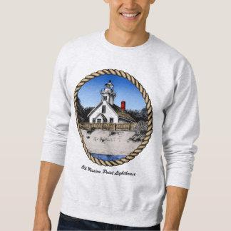 Alter Auftrag-Punkt-Leuchtturm Sweatshirt