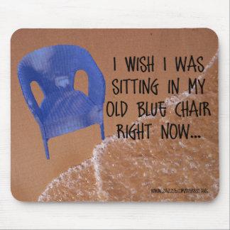Alter blauer Stuhl Mousepad