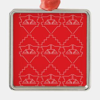 Alter Blick der Entwurfselement-Azteken Silbernes Ornament