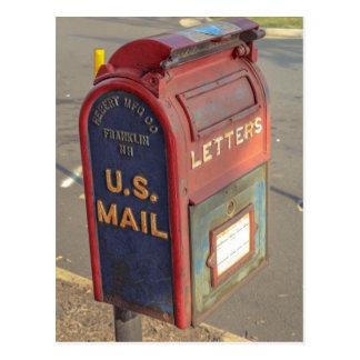 Alter Briefkasten Postkarte