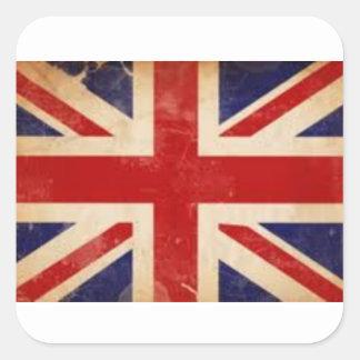 Alter britischer Flaggen-Aufkleber