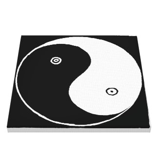 Alter Chinese Yin und Yang-Symbol Leinwanddruck