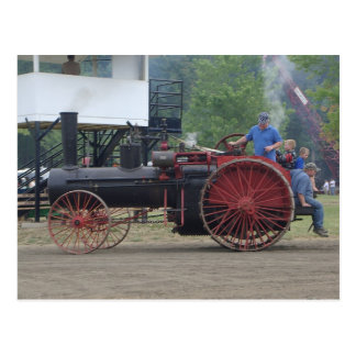 Alter Dampf-/Kohlen-Motor-Traktor Postkarte