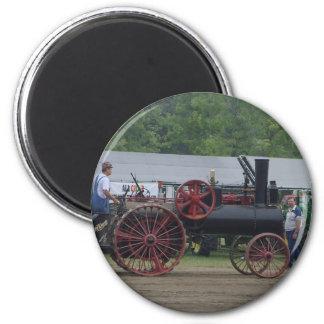 Alter Dampf-Motor-Traktor Runder Magnet 5,7 Cm