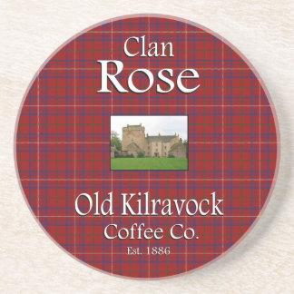 Alter das Kilravock der Clan-Rose Kaffee Co. Untersetzer