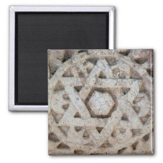 Alter Davidsstern Schnitzend, Israel Quadratischer Magnet