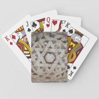 Alter Davidsstern Schnitzend, Israel Spielkarten