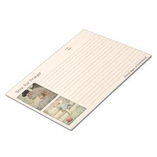 Alter des Kindheits-Gebets-Notizbuches Notizblock