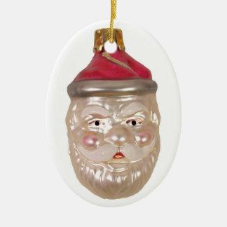 Alter Deutscher Weihnachtsmann Ovales Keramik Ornament