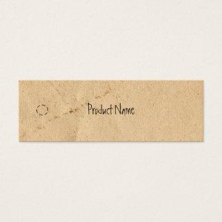 Alter dünner Fall-Papierumbau Mini Visitenkarte