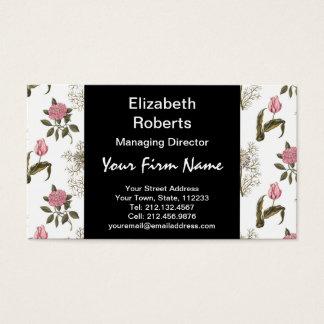 Alter englischer Garten-Vintages Blumenmuster Visitenkarte