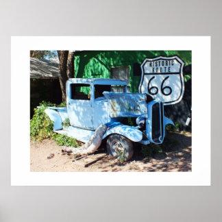 Alter Fahrzeug Weg 66 Poster