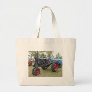 Alter Gas-Motor-Traktor Leinentaschen