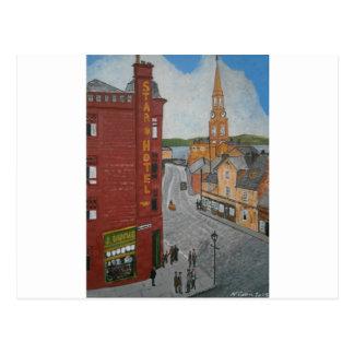 Alter Hafen Glasgow mit Stadtuhr Postkarte