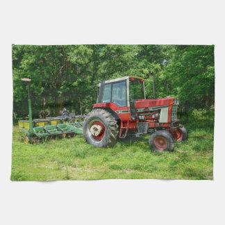 Alter internationaler Traktor Handtuch