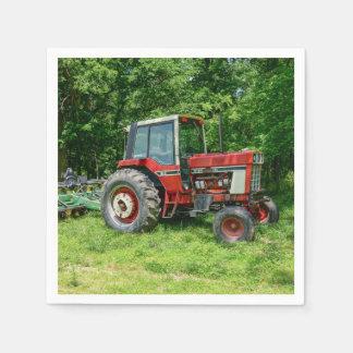 Alter internationaler Traktor Papierserviette
