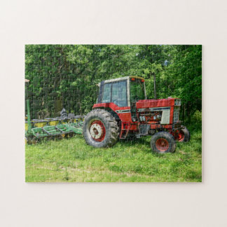 Alter internationaler Traktor Puzzle
