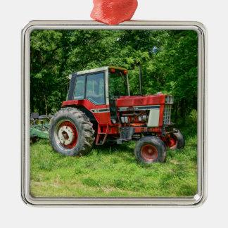 Alter internationaler Traktor Silbernes Ornament