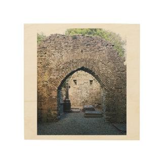 Alter irischer Friedhof Holzdruck