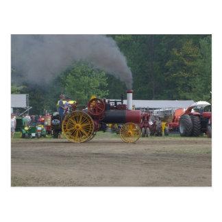 Alter Kohlen-Motor-Traktor Postkarte